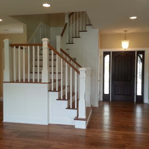 Custom Ash Floor And Stair